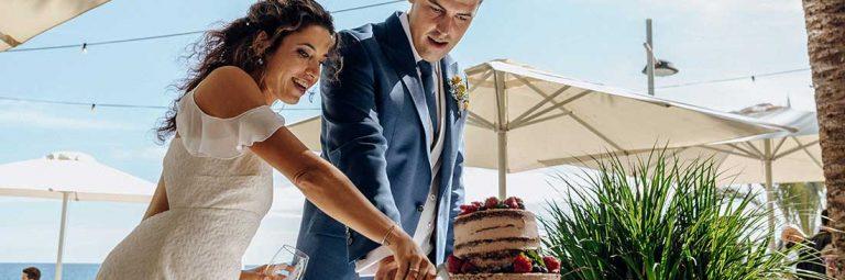 bodas Olleta playa Altea pastel
