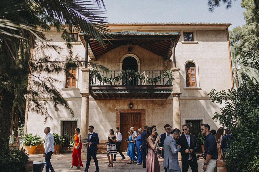 fincas bodas El Senyoret Benidorm masía entrada