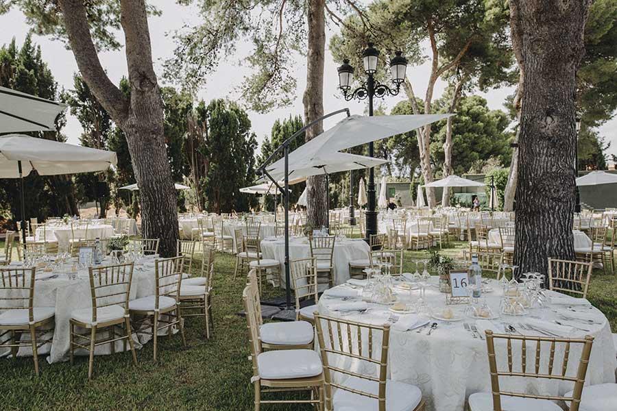 fincas bodas El Senyoret Benidorm explanada pinos convite